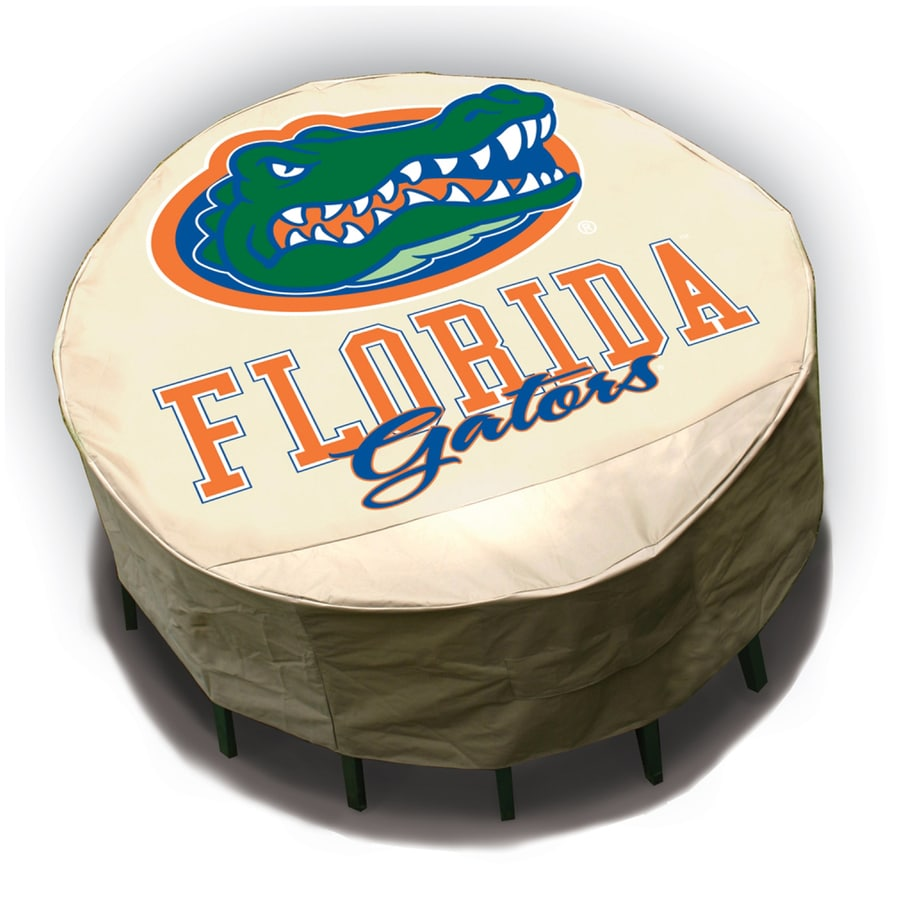 Mr. Bar-B-Q Florida Gators Tan Dining Table Round Cover