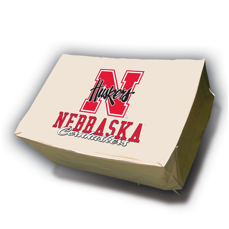 Mr. Bar-B-Q Nebraska Cornhuskers Tan Dining Table Rectangle Cover