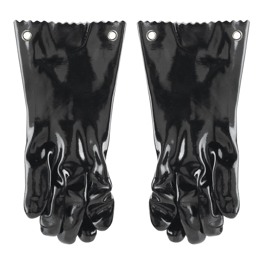Shop Blue Rhino 2 Pack Black Pvc Grill Gloves At Lowes Com