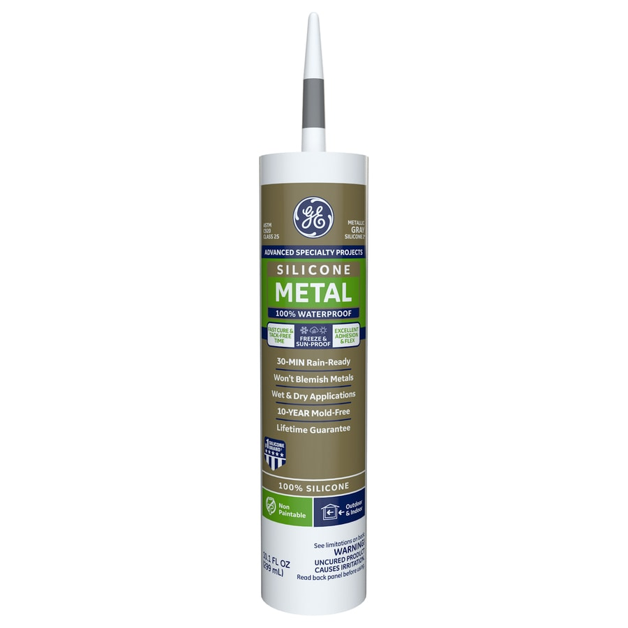 GE Silicone II 10.1-oz Gray Silicone Specialty Caulk