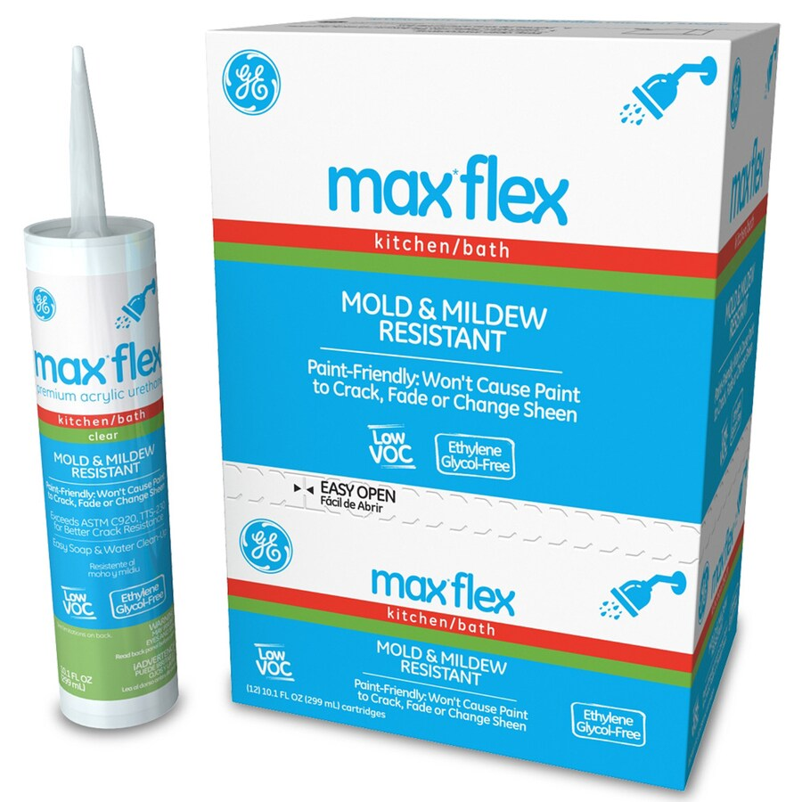 Shop GE Sealants Max Flex 121.2-oz Clear Paintable Tub and Tile ...