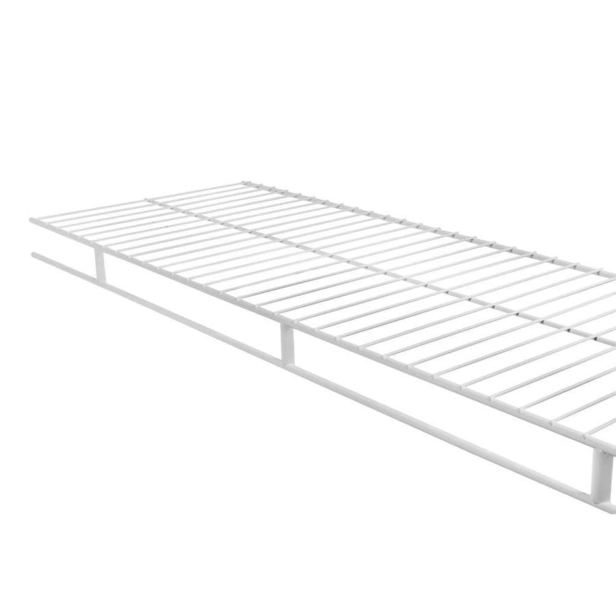 Shop Rubbermaid Wardrobe 6 Ft L X 12 In D White Wire Shelf