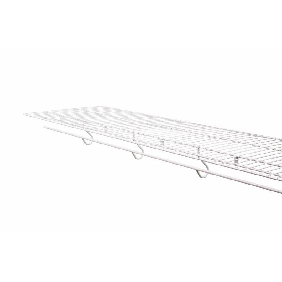 Lowes wire shelving systems for closets - Rubbermaid Freeslide 4 Ft L X 16 In D White Wire Shelf