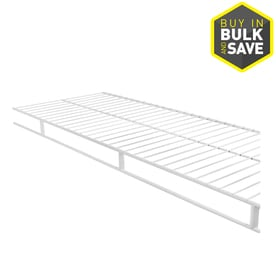 rubbermaid wardrobe 8ft x 12in white wire shelf