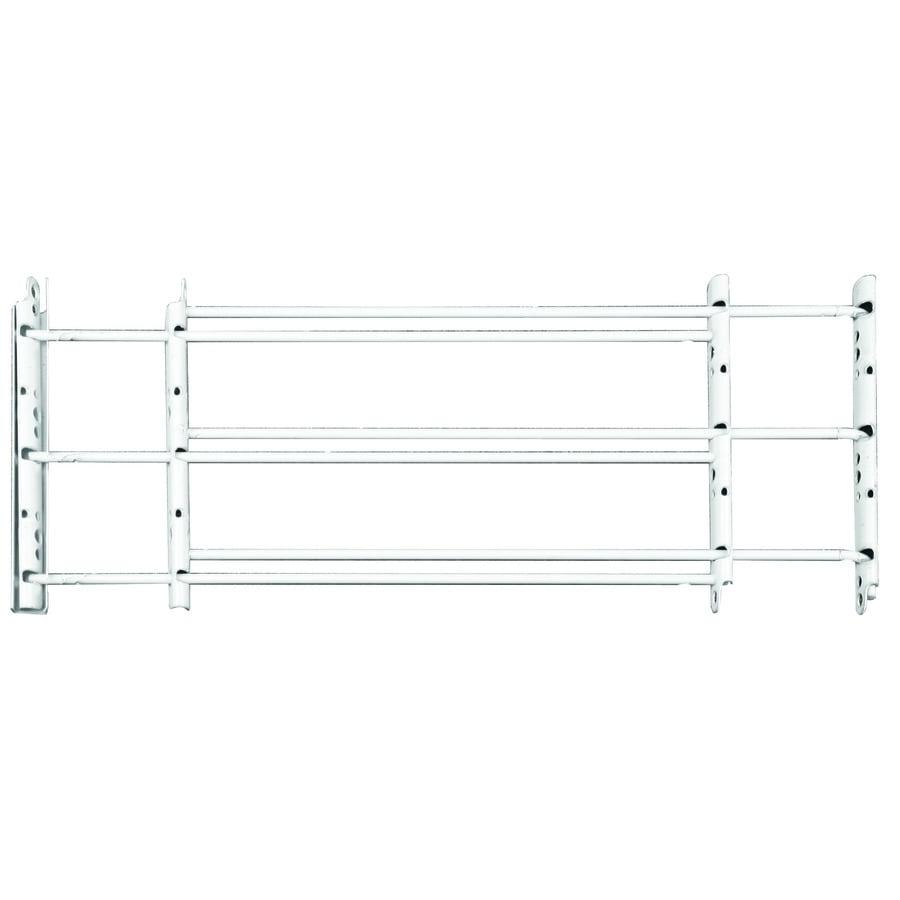 Knape & Vogt 24-in x 10.375-in White Swing-Open Adjustable Window Security Bar