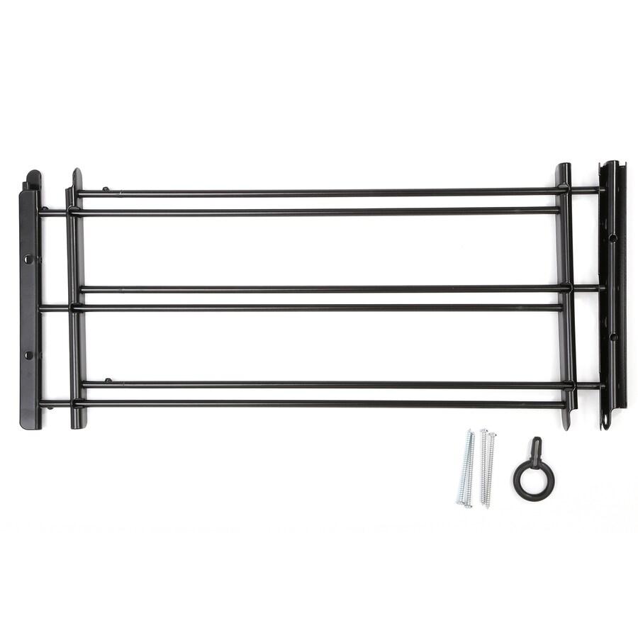 Knape & Vogt 1130 Series 24-in x 10.375-in Black 3-BAR Window Security Bar