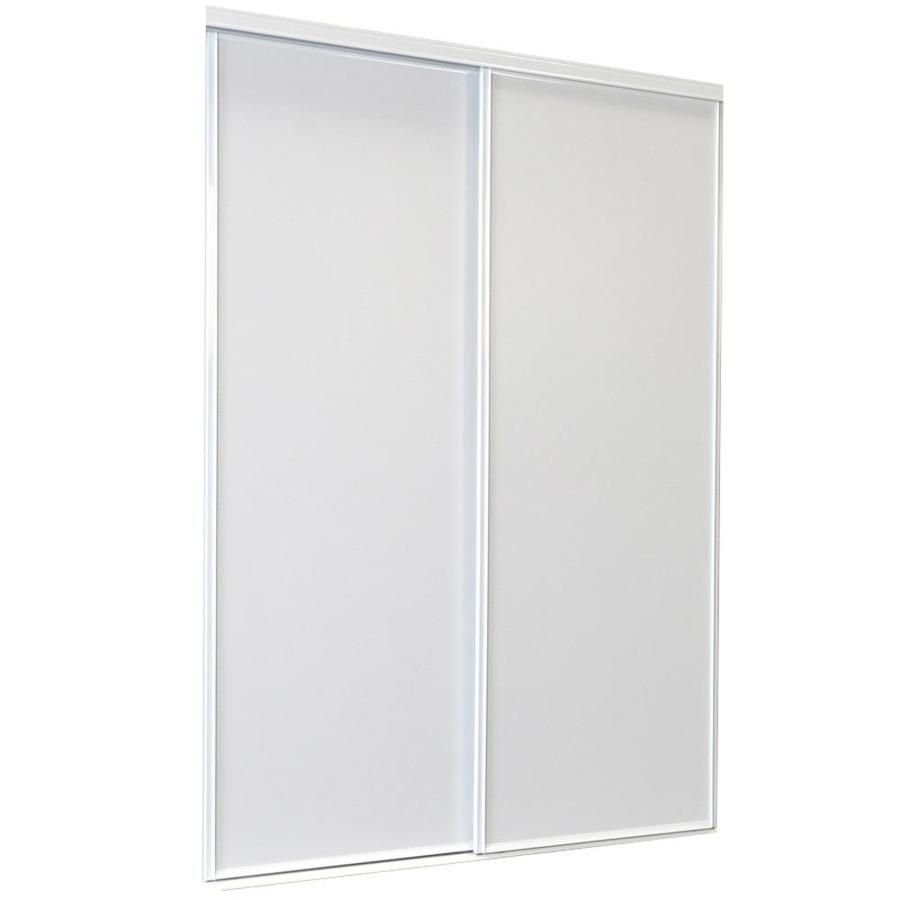 ReliaBilt White Flush Sliding Closet Interior Door (Common: 60-in x 80-in; Actual: 60-in x 80-in)