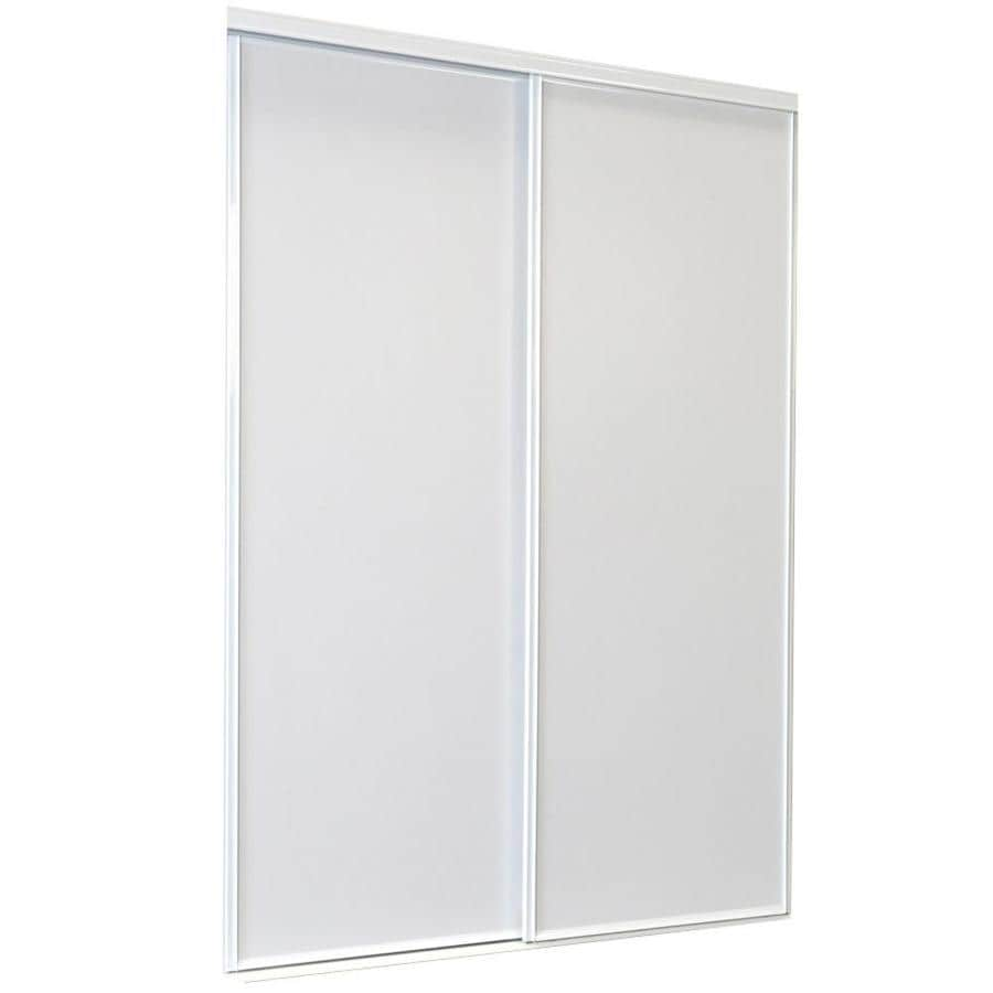 Shop ReliaBilt White Flush Sliding Closet Interior Door