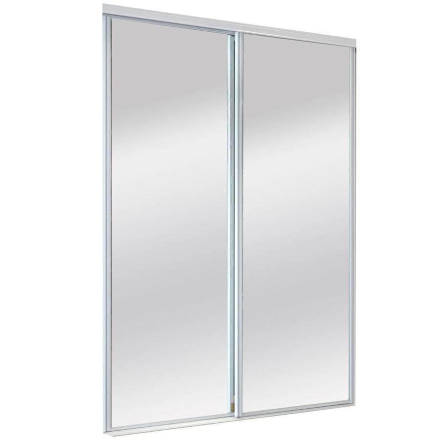 ReliaBilt Mirror Panel Sliding Closet Interior Door (Common: 48-in x 80-in; Actual: 48-in x 80-in)