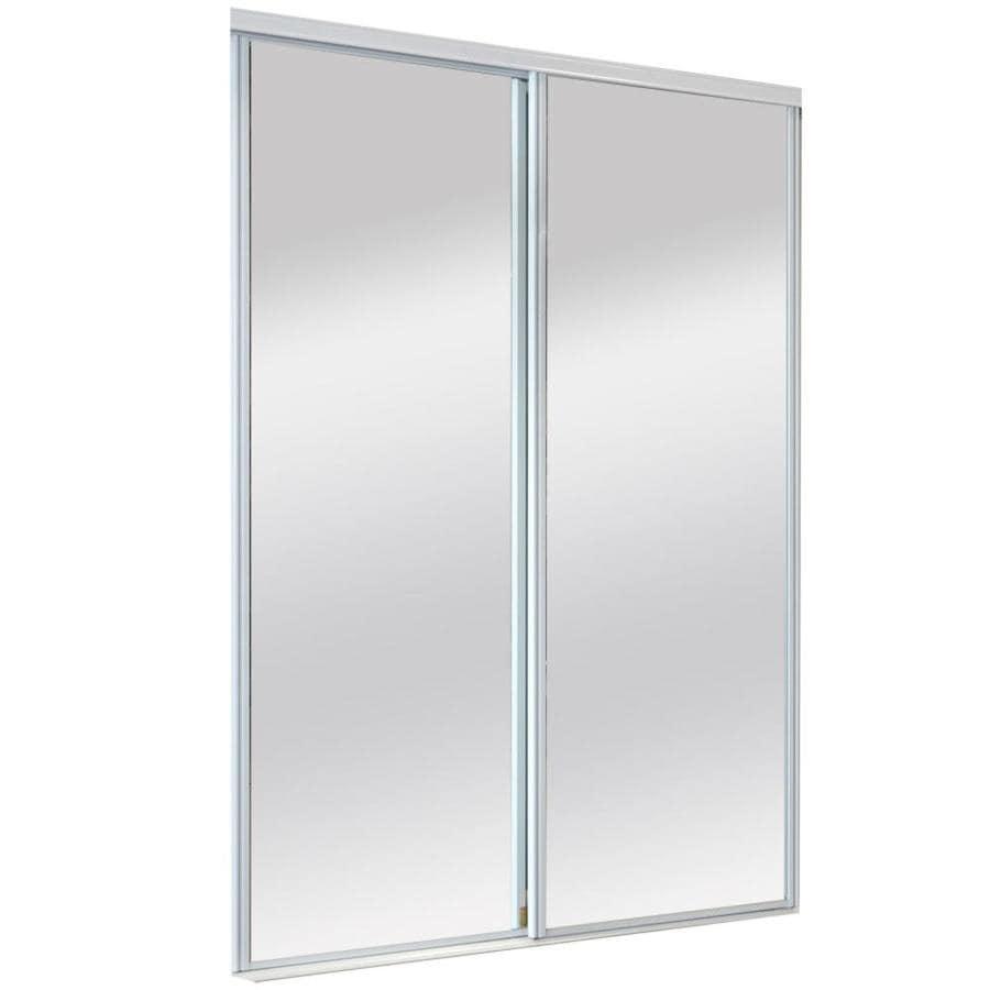 ReliaBilt 9625 Series Ladera By-Pass Door Mirror Mirror Sliding Closet Interior Door with Hardware (Common: 72-in x 80-in; Actual: 72-in x 80-in)