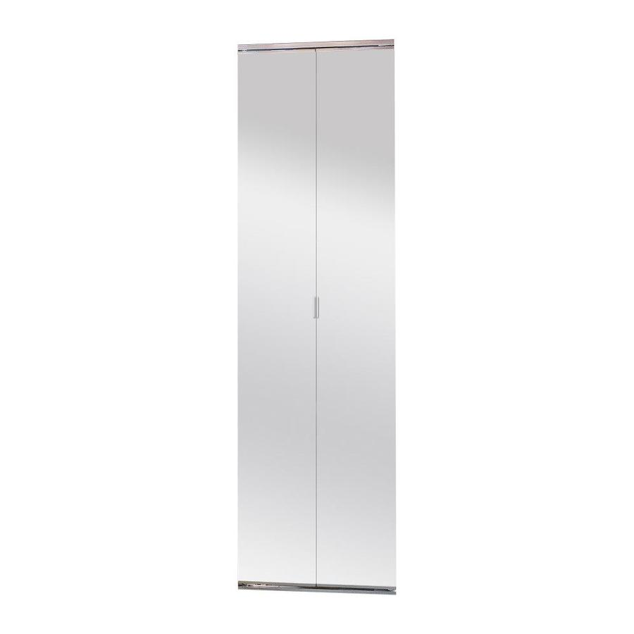 Manor Court Mirror Bi-Fold Closet Interior Door (Common: 24-in x 80-in; Actual: 24-in x 80-in)
