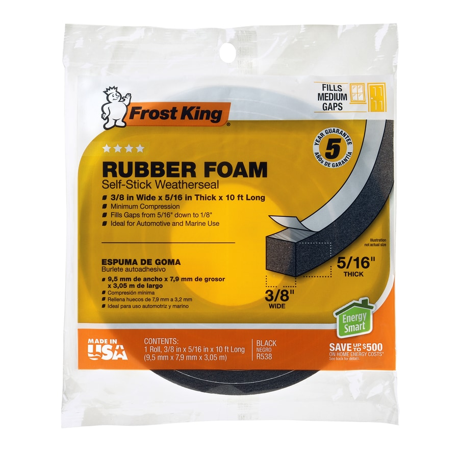 Frost King 0.375-in x 10-ft Black Closed-Cell Foam Window Weatherstrip