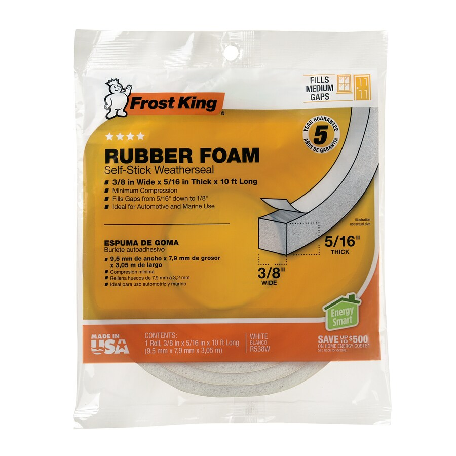 Frost King 10-ft White Rubber Foam Window Weatherstrip