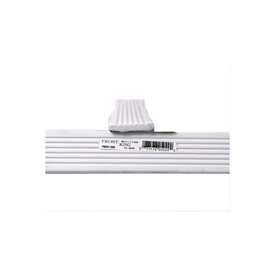 Frost King 3-in x 9-ft White Vinyl Garage Weatherstrip