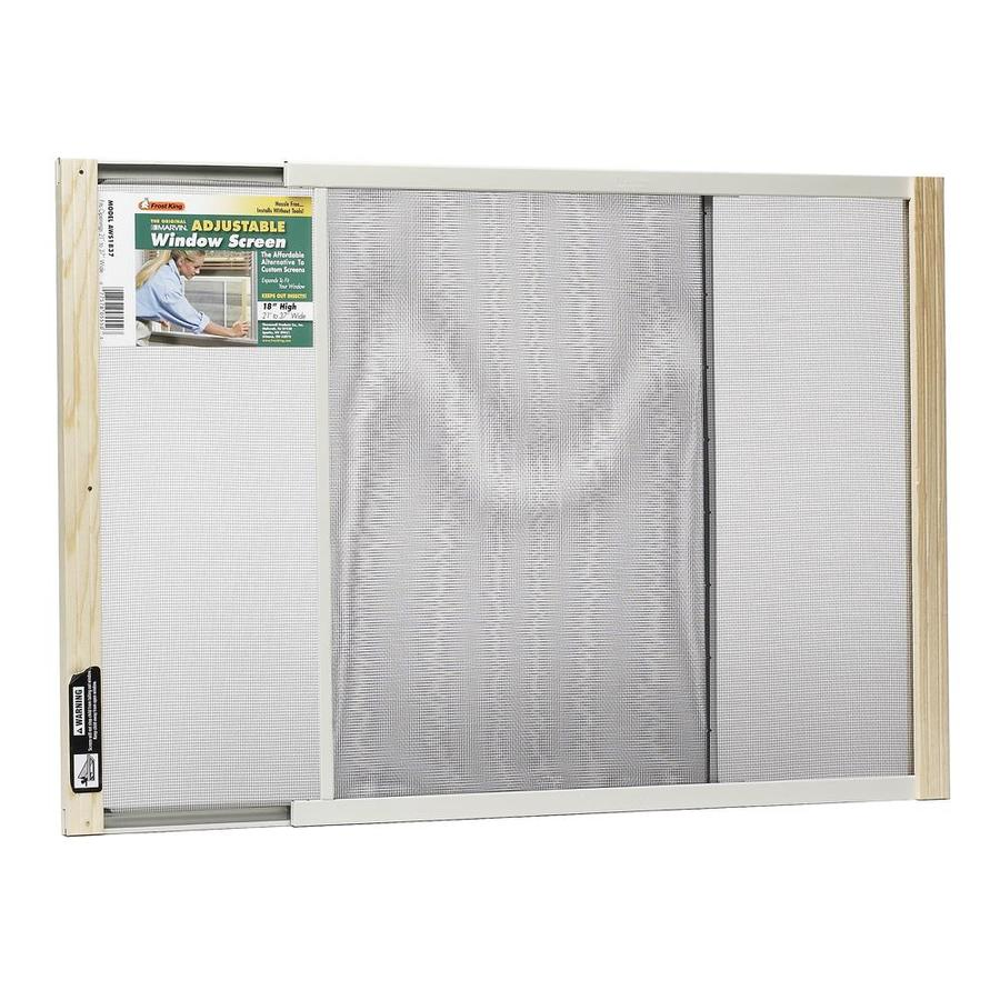 Shop frost king wood 37 in x 18 in window screen at for Phantom screen doors lowes