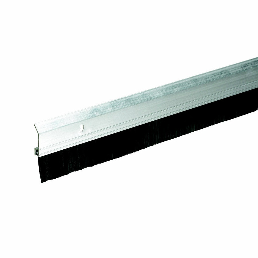 Frost King 2-in x 3-ft Silver Aluminum and Brush Door Weatherstrip