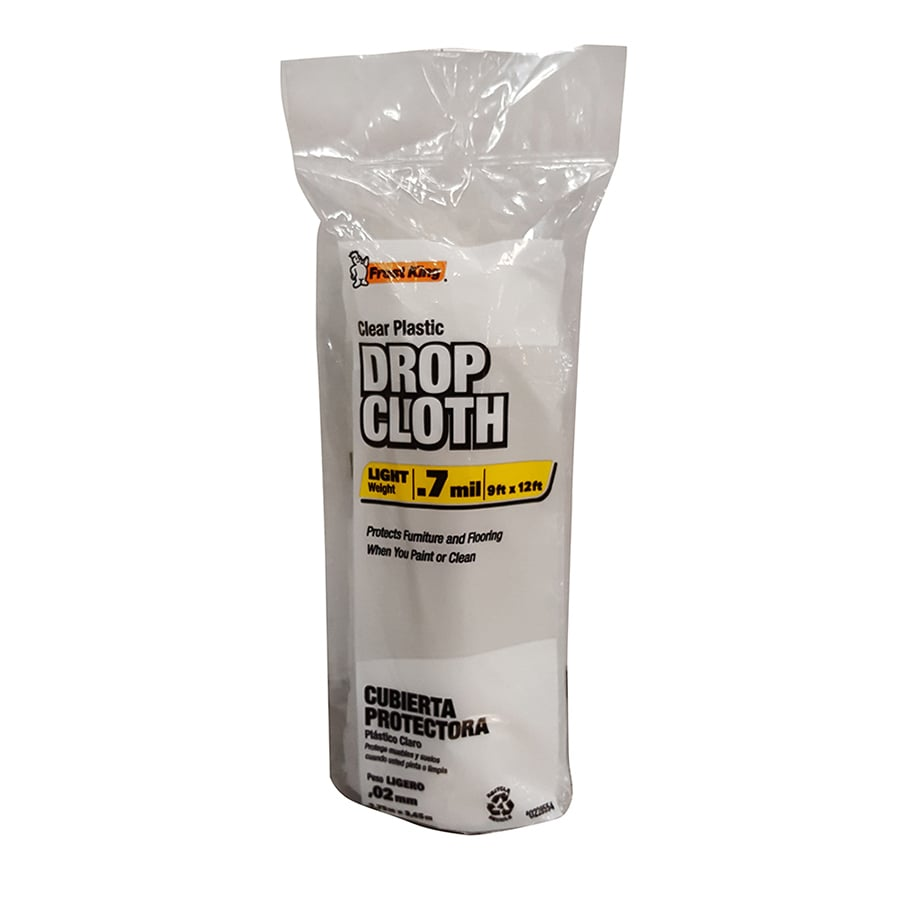 Frost King Plastic Drop Cloth (Common: 9-ft x 12-ft; Actual 9-ft x 12 Feet)