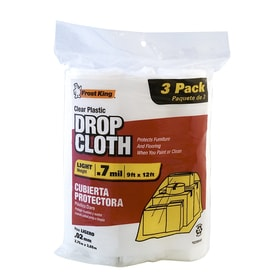 frost king 3pack plastic drop cloth common 9ft x 12