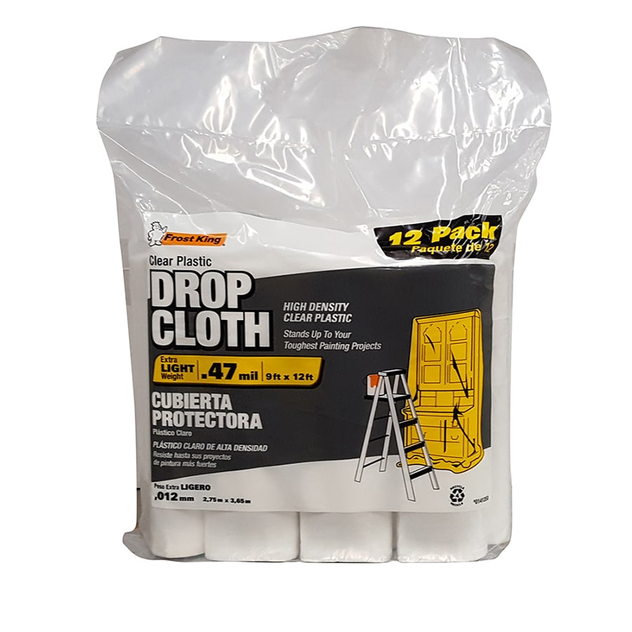 Frost King 12-Pack Plastic Drop Cloth (Common: 9-ft x 12-ft; Actual 9-ft x 12 Feet)