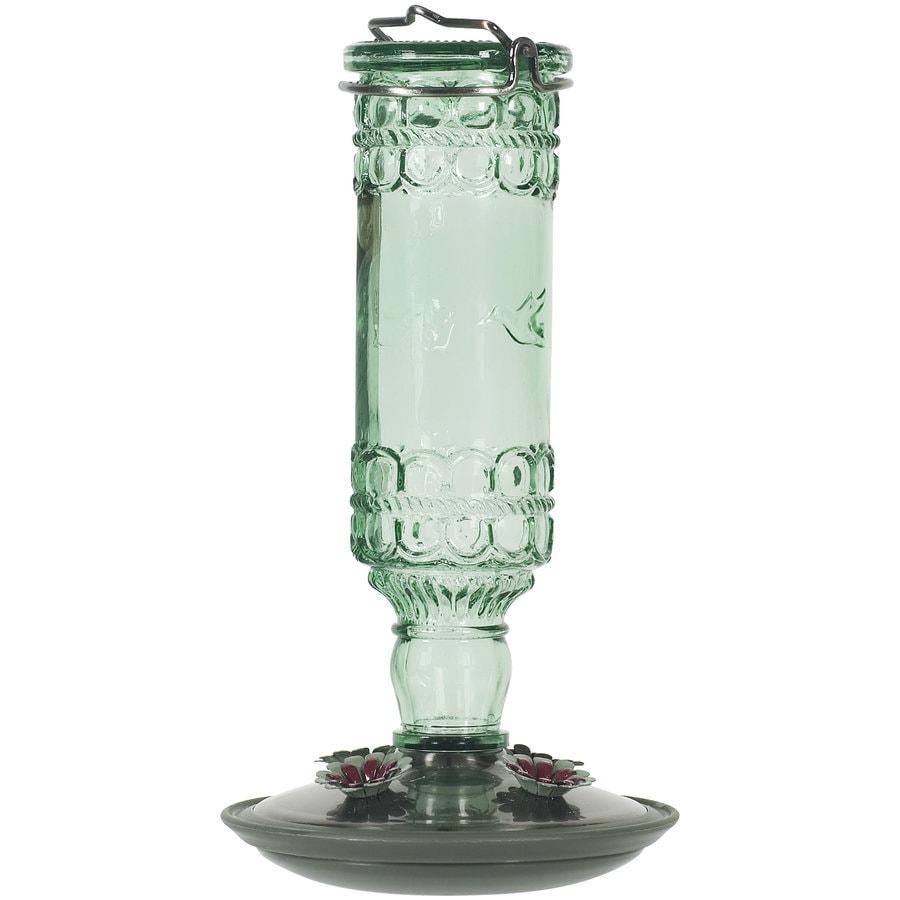 Perky-Pet Green Antique Bottle Hummingbird Feeder