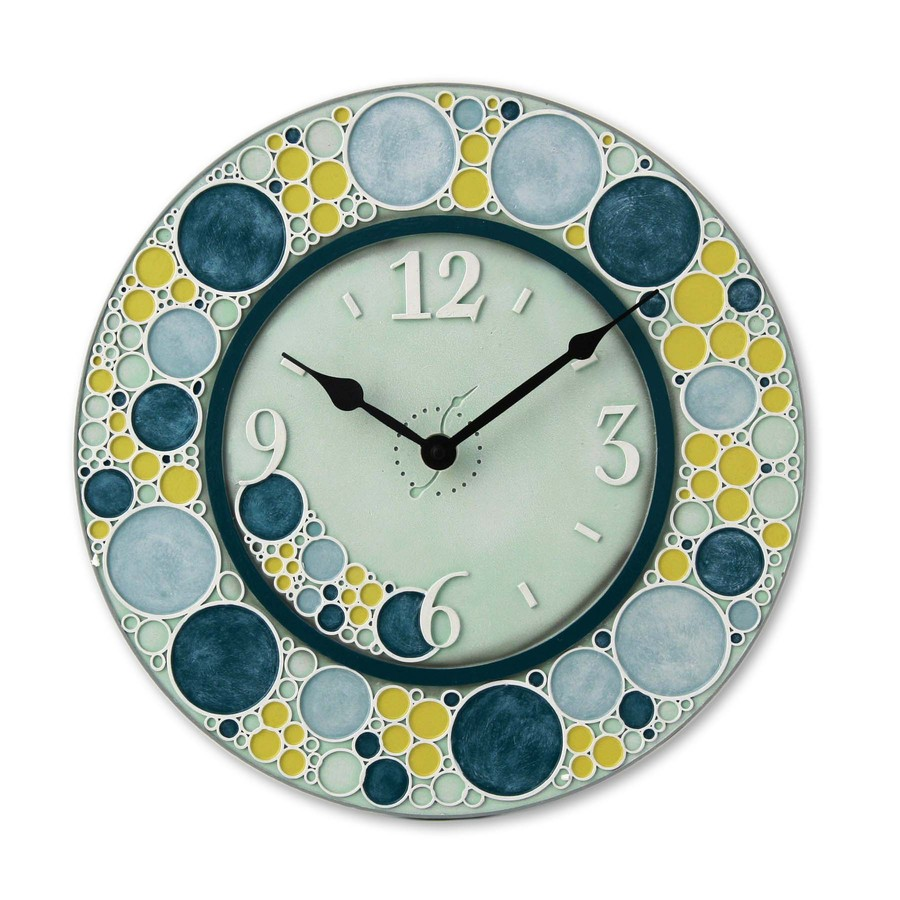 Garden Treasures 14-in Dia. Hand-Painted Standard Wall Clock