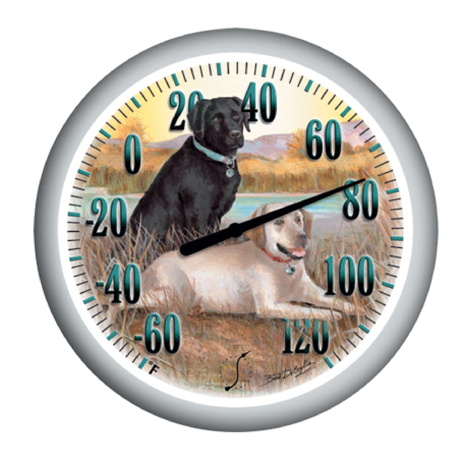 Garden Treasures Indoor/Outdoor White Labrador Thermometer