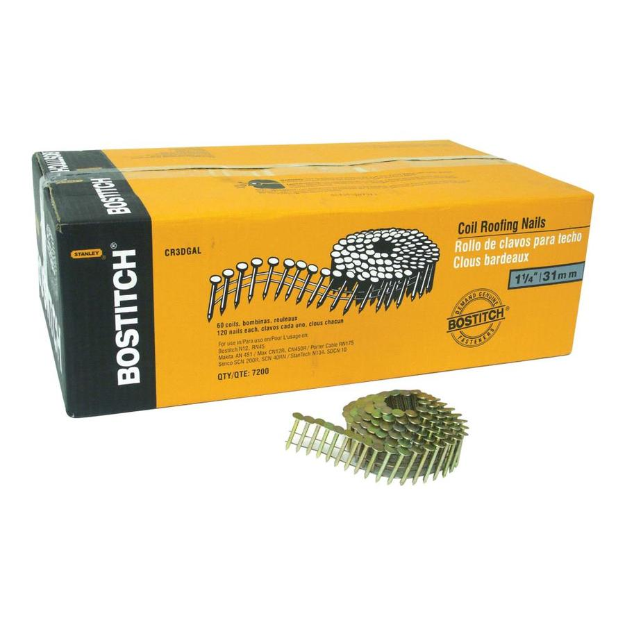 Bostitch 15 Gauge 15 Degree Pneumatic Roofing Nails 7200 Count In The Roofing Nails Department At Lowes Com
