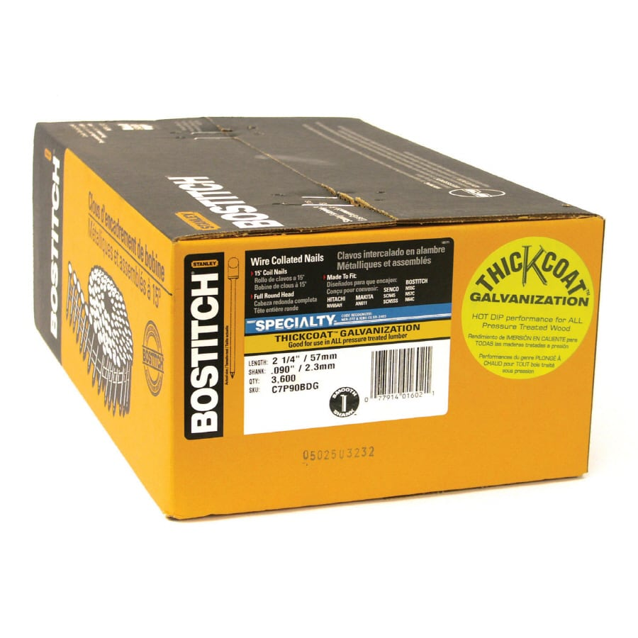 STANLEY-BOSTITCH 3600-Count 1/8-Gauge 2-1/4-in Galvanized Wood Siding Nails