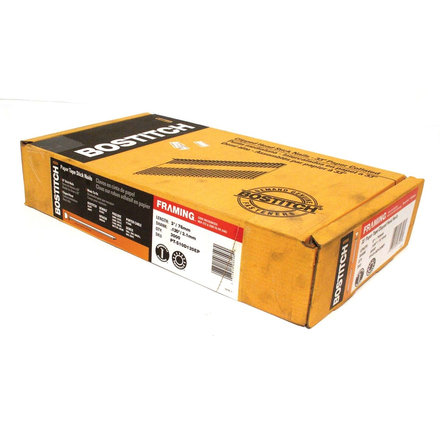 Shop STANLEY-BOSTITCH 3-in x .131 Smooth Shank 33-Degree Paper ...