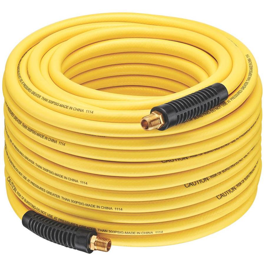 Bostitch 1/4-in x 100-ft Yellow Reinforced Air Hose