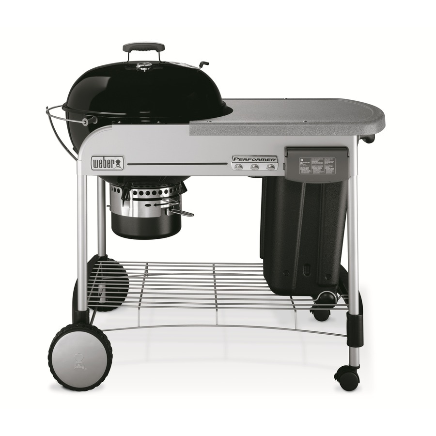 Weber Performer 22.5-in Black Porcelain-Enameled Kettle Charcoal Grill
