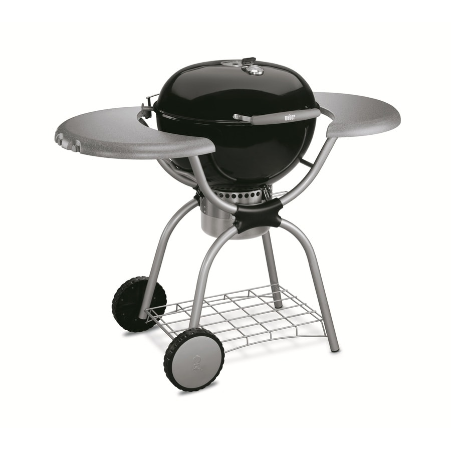 shop weber one touch platinum black porcelain enameled charcoal grill at. Black Bedroom Furniture Sets. Home Design Ideas