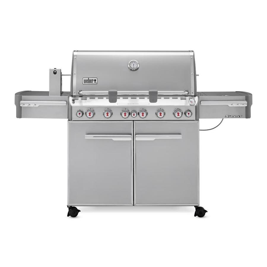 Weber Summit S-670 6-Burner Liquid Propane Gas Grill with 1-Side Burner and Rotisserie Burner Integrated Smoker Box