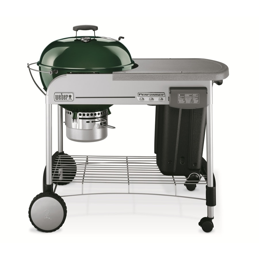 Weber Performer Green Porcelain-Enameled Charcoal Grill
