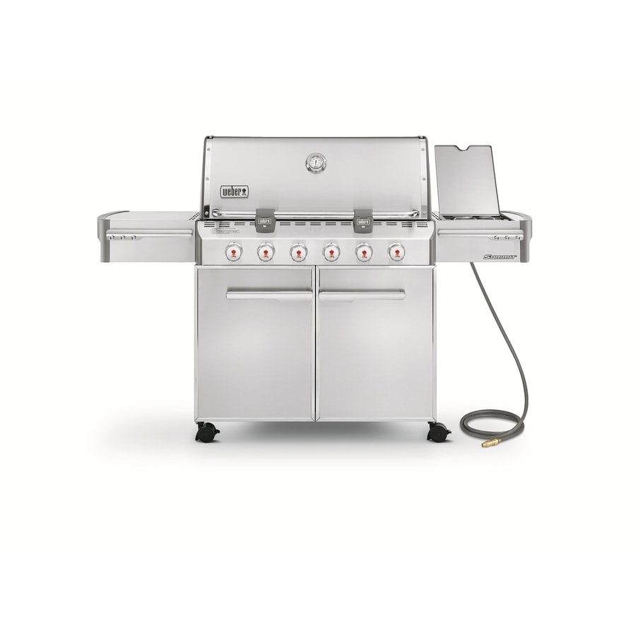 Weber Summit S-620 6-Burner (60,000-BTU) Natural Gas Grill with Side Burner