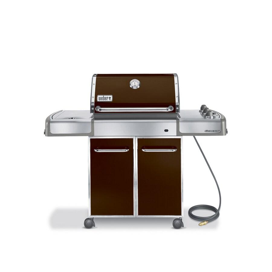 shop weber genesis e 320 3 burner espresso brown natural gas grill at. Black Bedroom Furniture Sets. Home Design Ideas