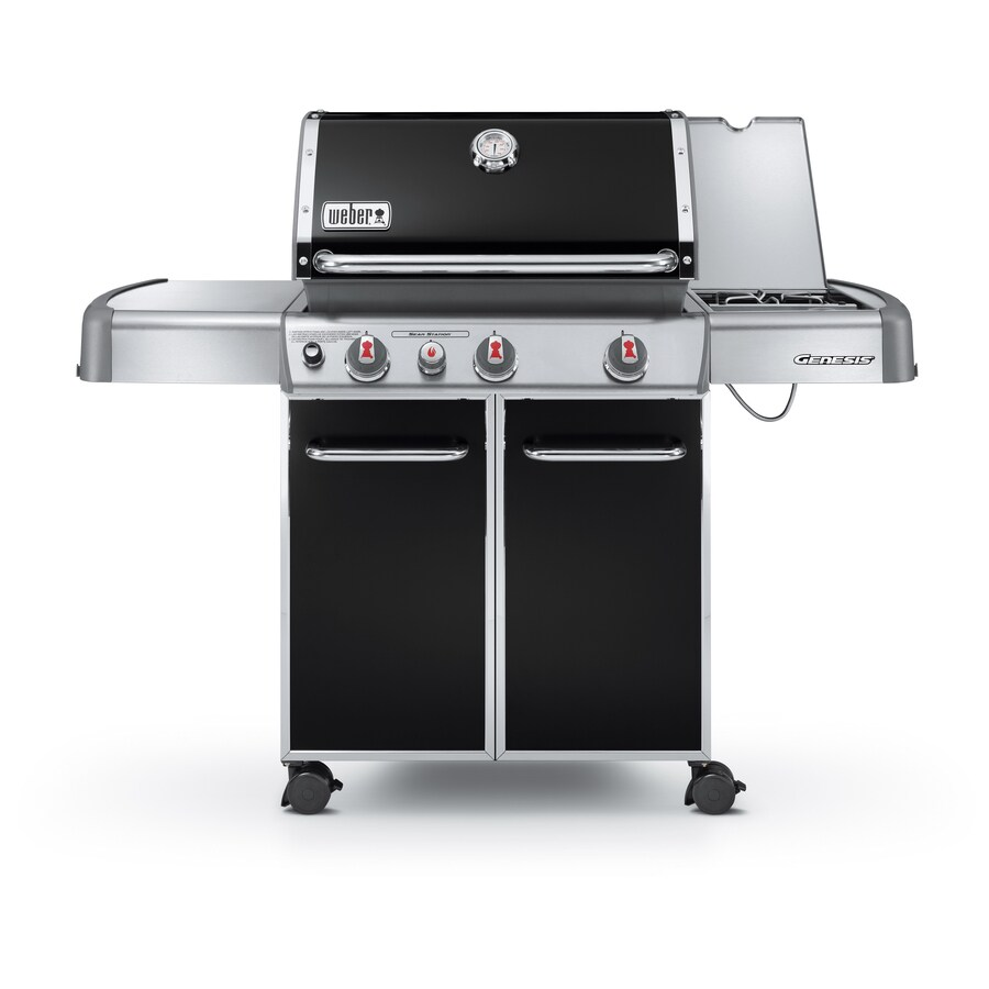 Weber Genesis E-330 Black 3-Burner (38,000-BTU) Natural Gas Grill with Side Burner