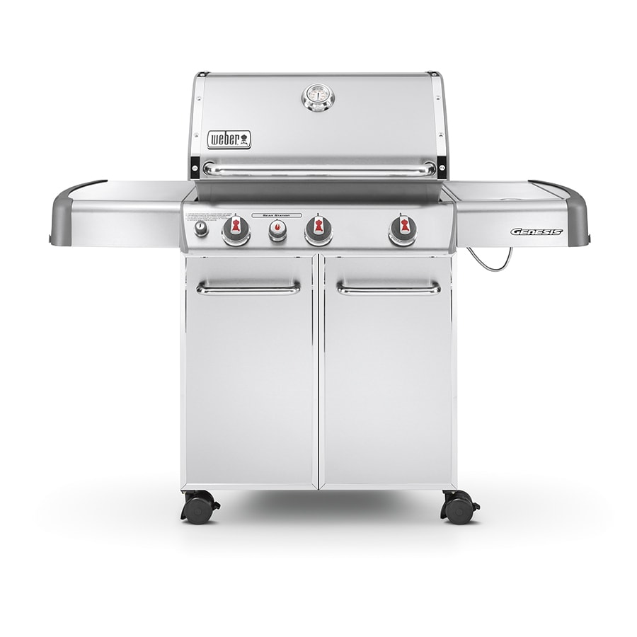 shop weber genesis s 330 stainless steel 3 burner 38 000 btu liquid propane gas grill with. Black Bedroom Furniture Sets. Home Design Ideas