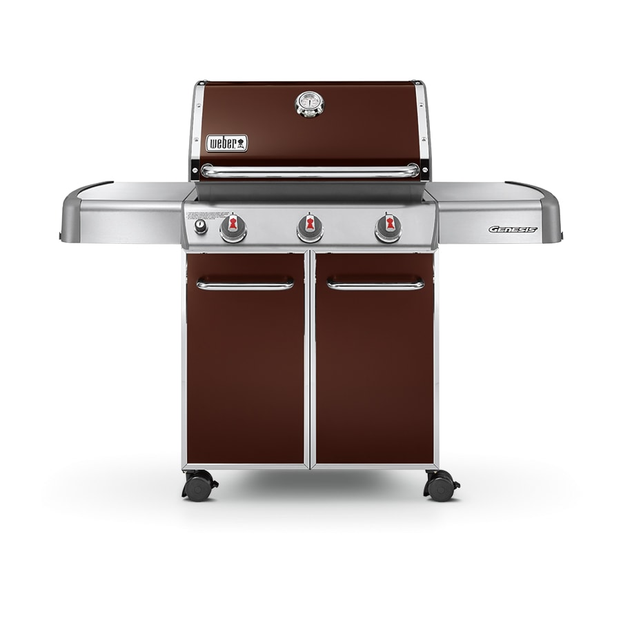 shop weber genesis e 310 espresso 3 burner 38 000 btu liquid propane gas grill at. Black Bedroom Furniture Sets. Home Design Ideas