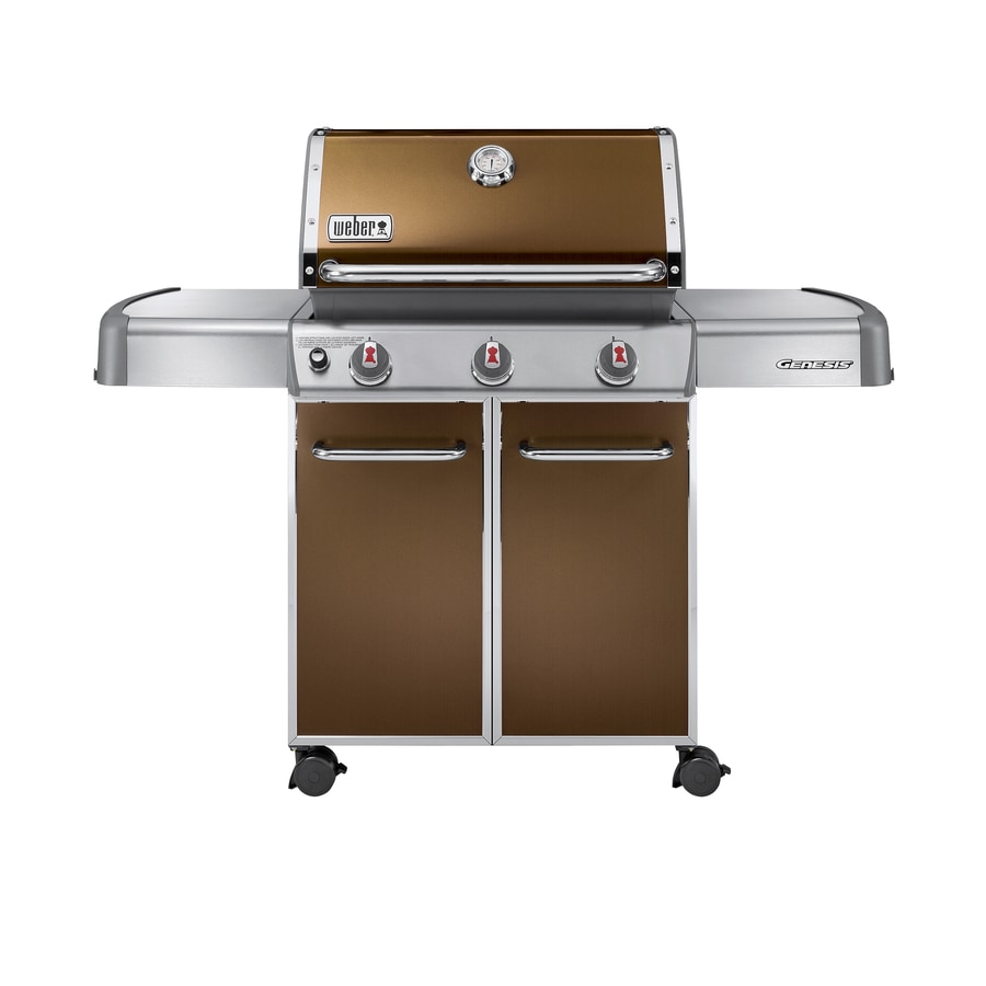 shop weber genesis e 310 copper 3 burner 38 000 btu liquid propane gas grill at. Black Bedroom Furniture Sets. Home Design Ideas