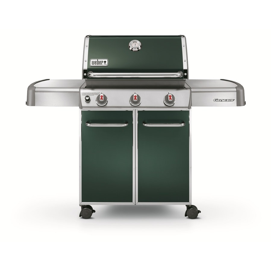 shop weber genesis e 310 green 3 burner 38 000 btu. Black Bedroom Furniture Sets. Home Design Ideas