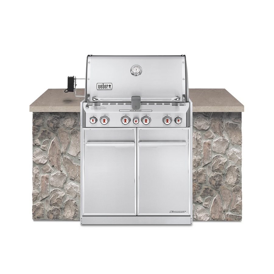 Weber Summit S-460 4-Burner Built-in Natural Gas or Convertible to Ng Infrared Burner Grill