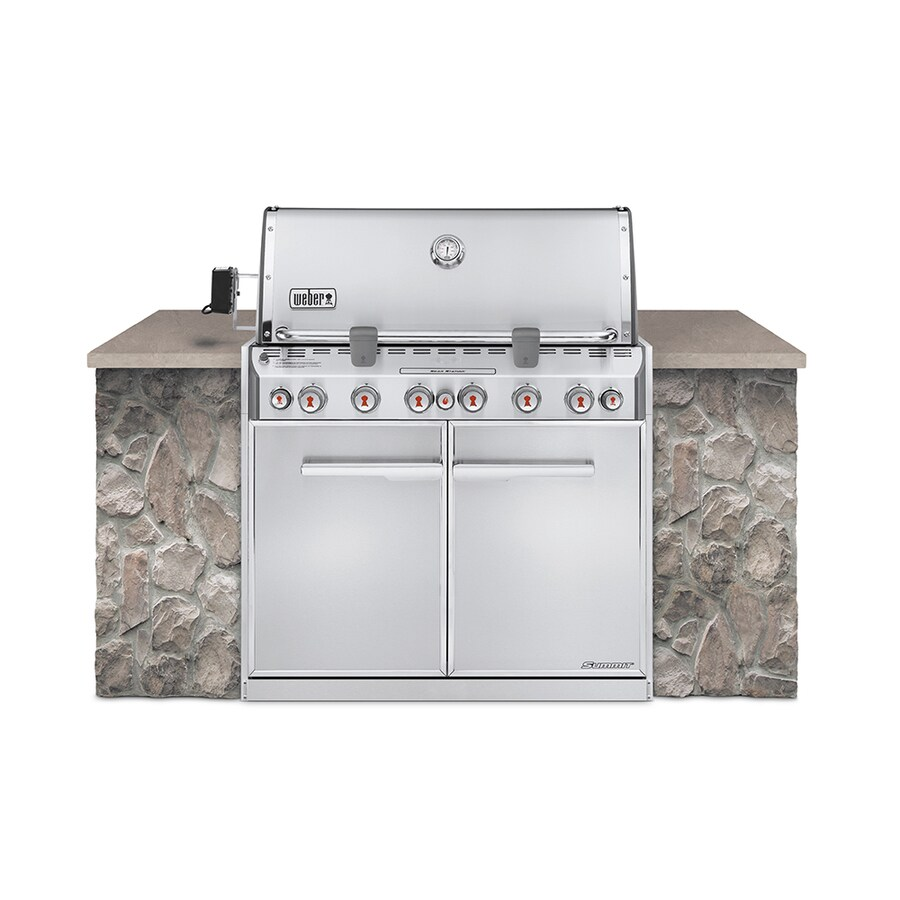 Weber Summit S-660 6-Burner Built-in Natural Gas or Convertible to Ng Infrared Burner Grill