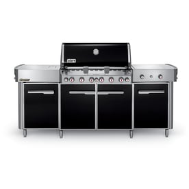 weber summit black 6burner natural infrared gas grill with 2 side burners rotisserie - Weber Summit S420