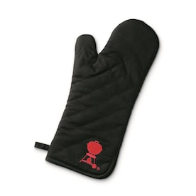 Weber Black Cotton with Red Embroidered Logo Cotton Grill Mitt