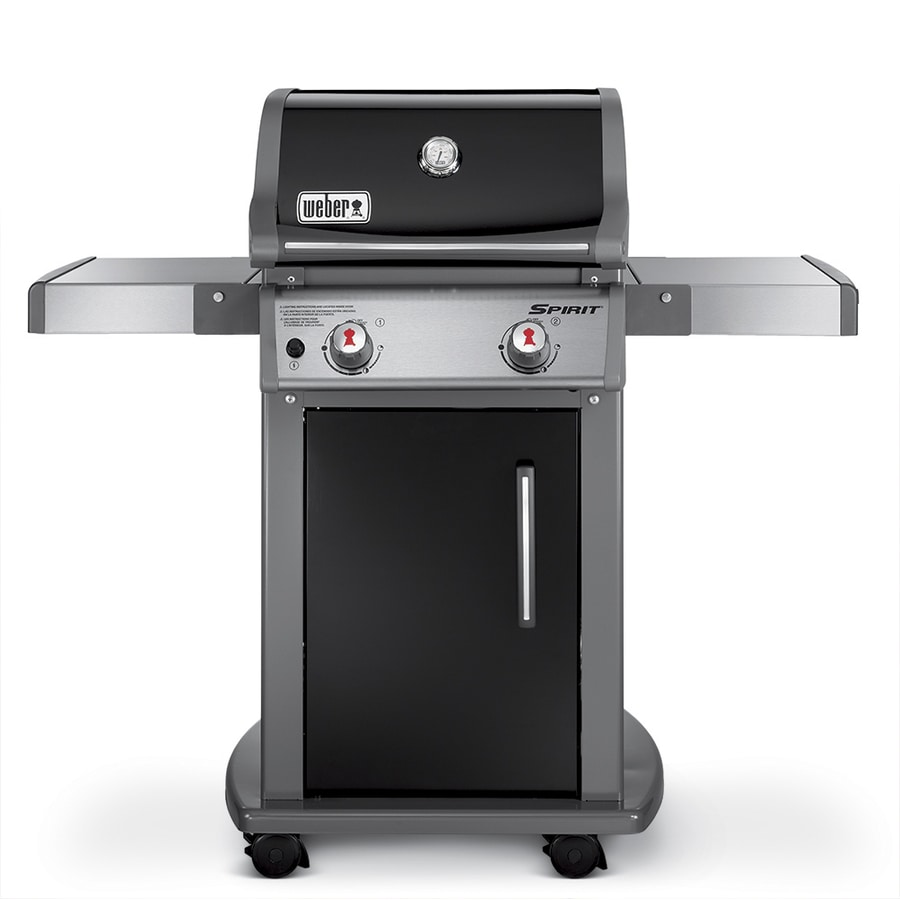 shop weber spirit e 210 black porcelain enamel 2 burner liquid propane gas grill at. Black Bedroom Furniture Sets. Home Design Ideas