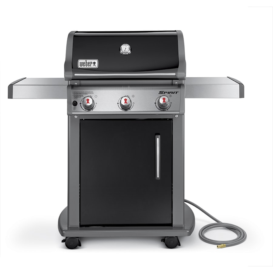 Weber Spirit E-310 Black Porcelain Enamel 3-Burner (32,000-BTU) Natural Gas Grill
