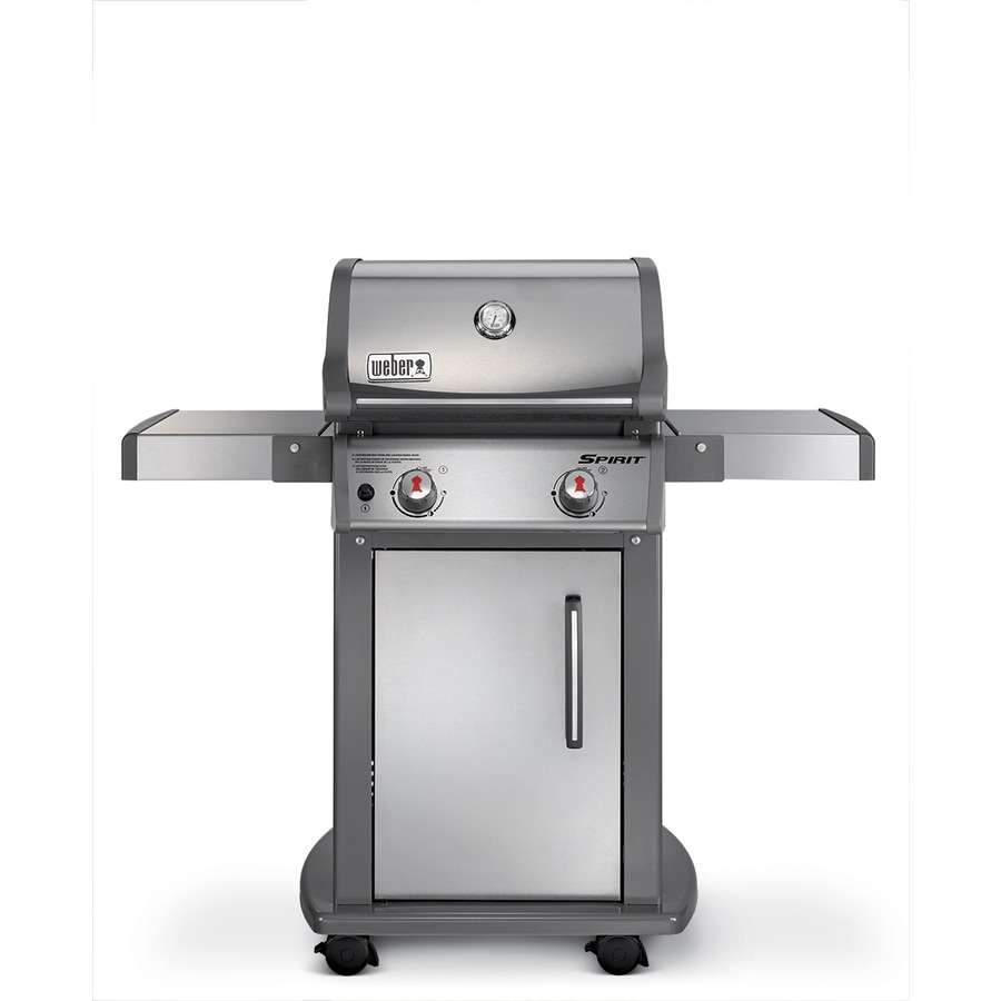 Shop weber spirit s 210 stainless steel 2 burner liquid propane gas grill at Weber exterior grill cleaner