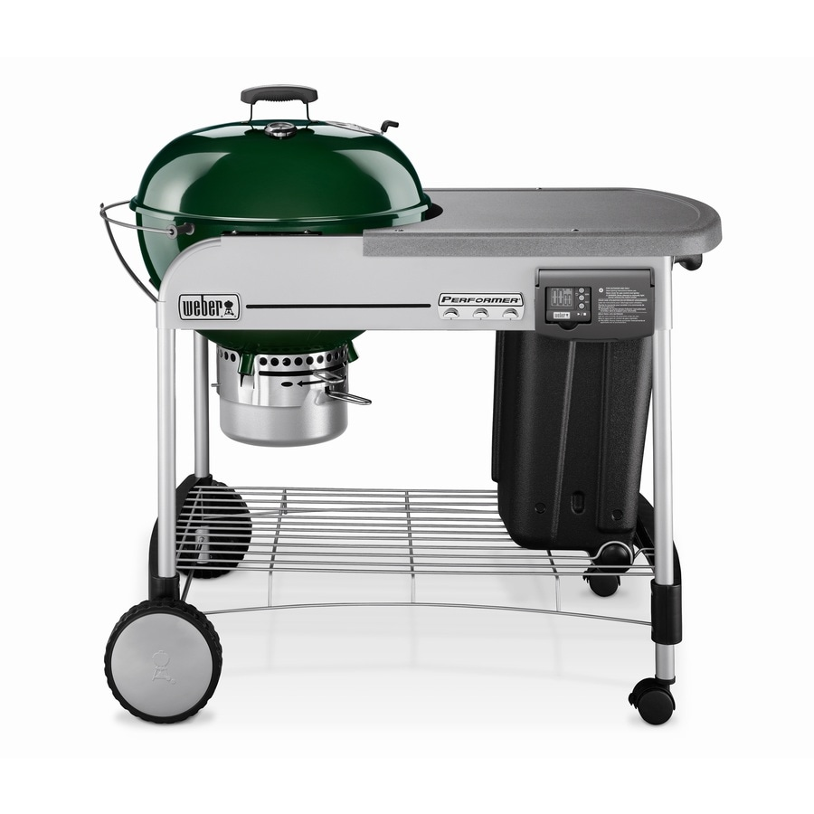 Weber Performer Platinum 22.5-in Green Kettle Charcoal Grill