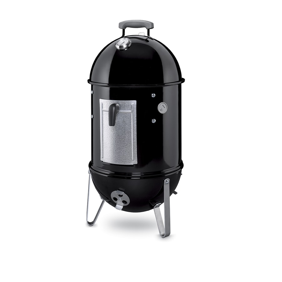 Weber Weber Smokey Mountain Cooker 31.4-in H x 14.75-in W 286-sq in Black Porcelain Enameled Charcoal Vertical Smoker 711001